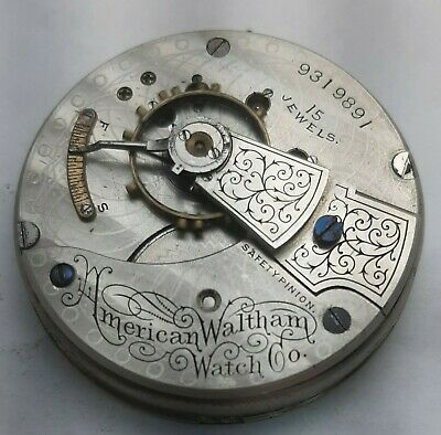 Waltham 18s Movement Pocket Watch Movement Parts/Repair