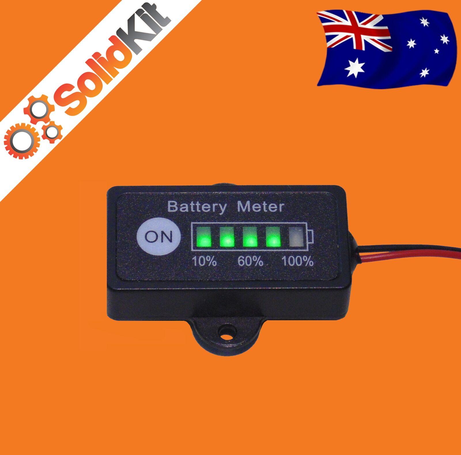 Led Battery Bank Monitor : Volt led dual battery monitor meter fuel gauge digital