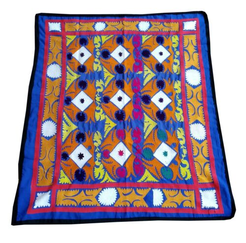 Silk Vintage Antique Uzbek Wall Hanging Hand Embroidery Suzani SALE WAS $199.00