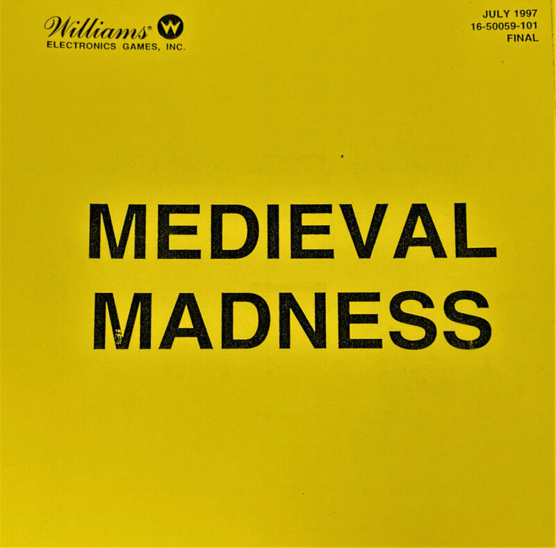 Williams Medieval Madness Machine Game Manual Schematics