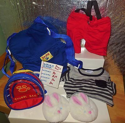 BUILD A BEAR WORKSHOP ANIMAL FIRST DAY OF SCHOOL CLOTHES COSTUME OUTFIT SET LOT