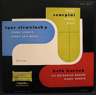 Stravinsky Bartok Scarpini Piano Sonata Bulgarian Dances Colosseum  Clps 1025