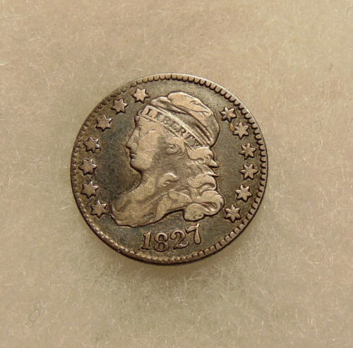 1827 Capped Bust Dime - Better Date - Very Nice Looking Coin - FREE SHIPPING