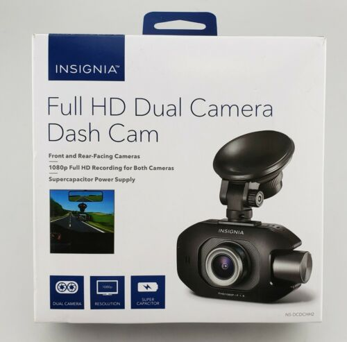 Insignia NS-DCDCHH2 Full HD Dual Camera Dash Cam In Box Excellent Shape