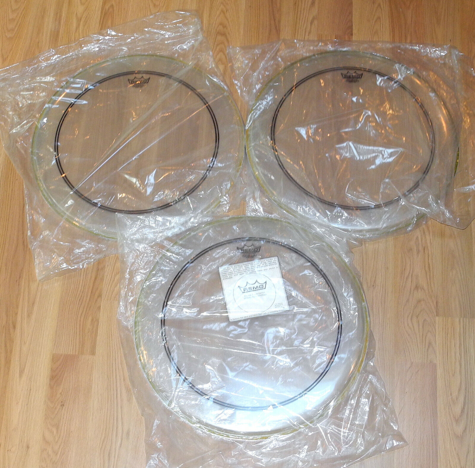 3 Remo 20 Powerstroke 3 Clear Bass Kick Drum Heads  - $29.99