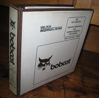 Bobcat X325 Excavator Service Manual 1995