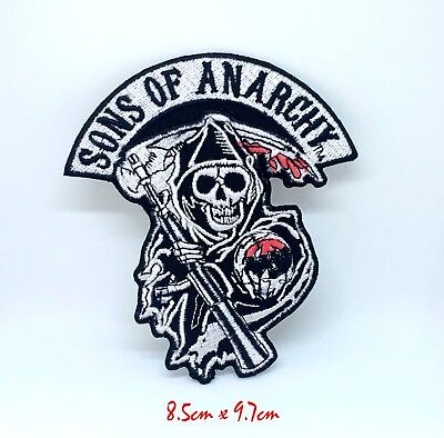 Sons of Anarchy Skull Biker Jacket Iron on Sew on Embroidered Patch...