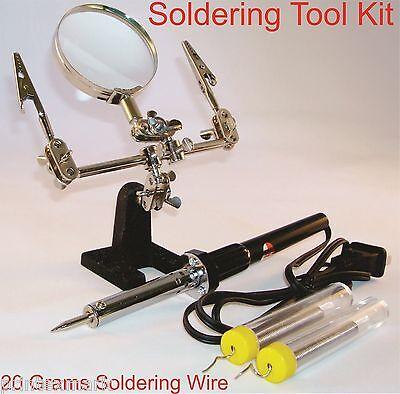 Soldering Tool Kit Helping Hand 60 Watt Soldering Iron 20 Gram Soldering Iron