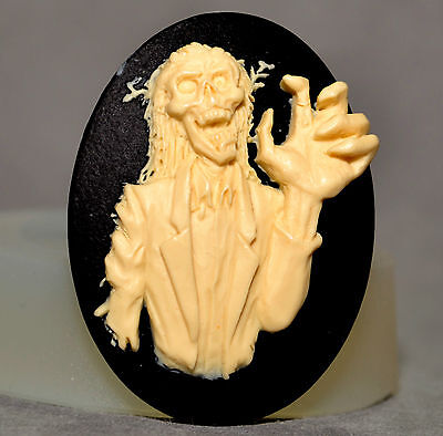 Zombie Cupcake (ZOMBIE silicone mould cupcake chocolate clay mold skull walker walking death)