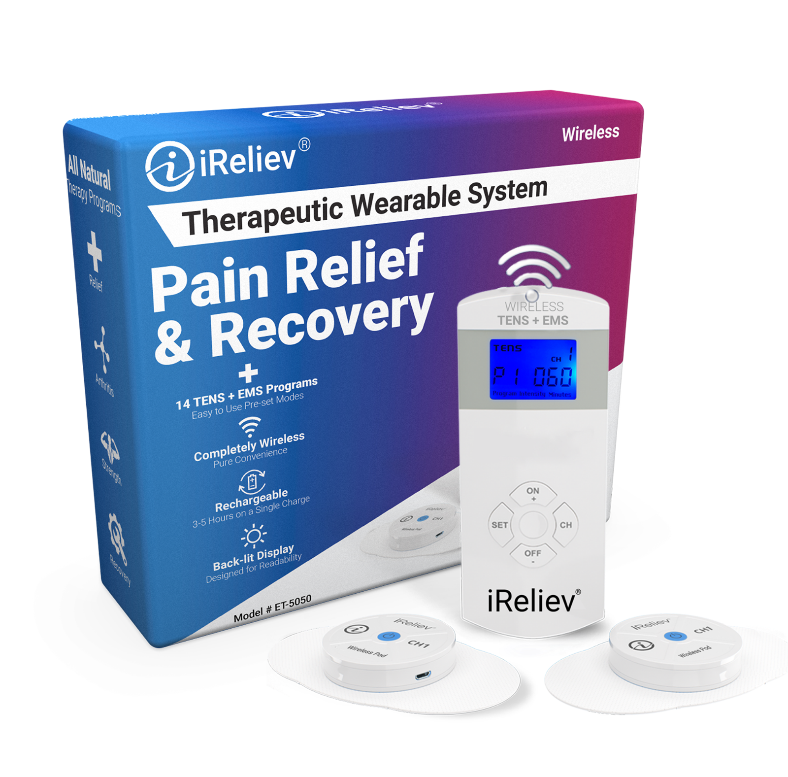 wireless unit ems therapeutic wearable system et