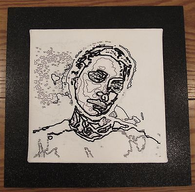 Signed Adriana Ospina Hybrid Nature 4 mixed media self portrait Colombian artist