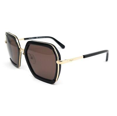 Salvatore Ferragamo Sunglasses SF901S 001 Black Rectangle Women 57x20x140