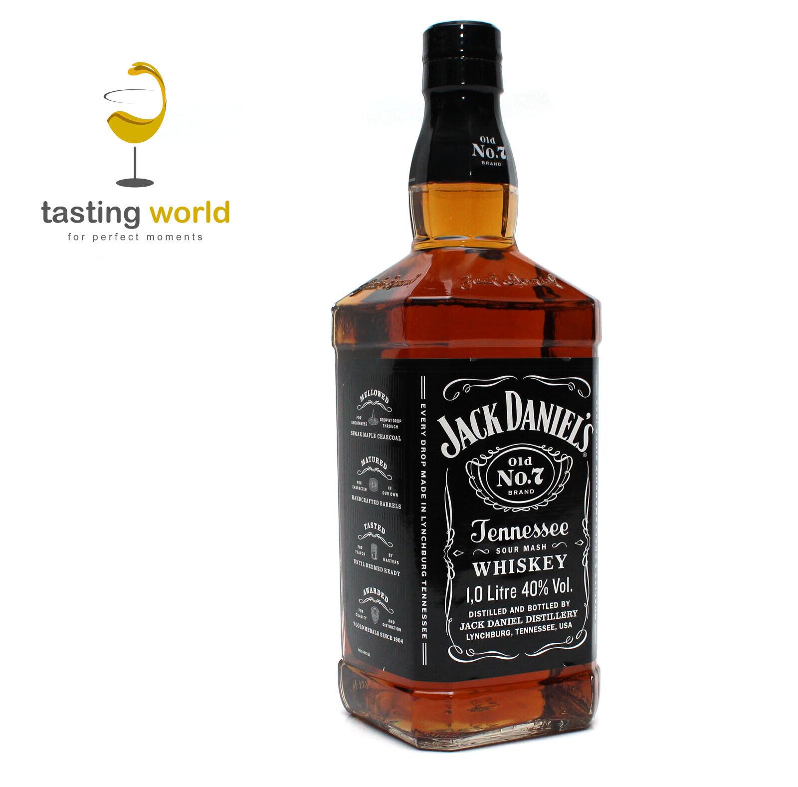 1 LITER! Jack Daniels Old No.7 Tennessee Sour Mash Whiskey - 1,0l 40%