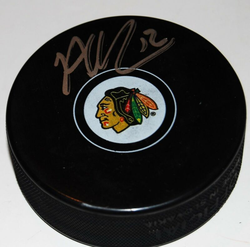 ALEX DEBRINCAT signed (CHICAGO BLACKHAWKS) autograph souvenir hockey puck W/COA