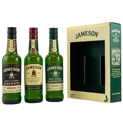 JAMESON Caskmates - Whisky Tasting Geschenkset 3 x 0,2l Irish Whiskey 40% 0,6l