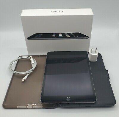 Apple iPad Mini 2 32GB Gray WiFi + Cellular AT&T Model A1490 Box / Extra