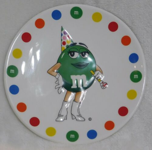 "Cute New M&M Green Character 6"" Ceramic Plate"