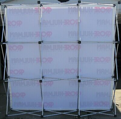 Folding Trade Show Display 7ft. T X 7ft. W X 12.5d Carry Bag Aluminum Frame