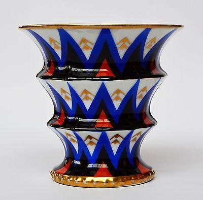 Richard Schlegelmilch Tillowitz Porzellan Vase Blumenvase Art Deco 1920er 14 cm