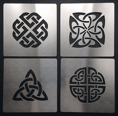Knot Template - Celtic Knot Love Dara Trinity Quaternary Shield Metal Stencil Template 4cm