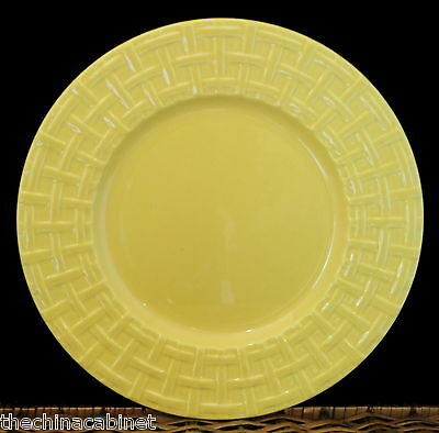 "PAGNOSSIN YELLOW BASKETWEAVE -- (6) 11-1/8"" DINNER PLATES PLATE SET"
