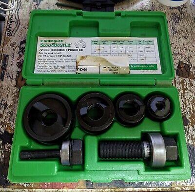 New Greenlee 7235bb Slug-buster Manual Knockout Set 12-1-14