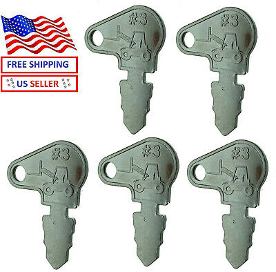 5 Keys Fits Old Case John Deere Massey Ferguson Baraga Lift Terramite 83353 A4