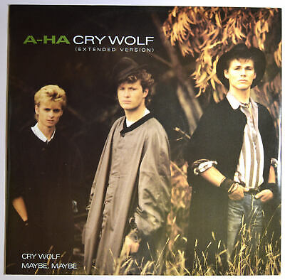 """A-HA - Cry Wolf (Extended Version) 12"""" inch Vinyl Electronic New-Wave Synth-Pop"""