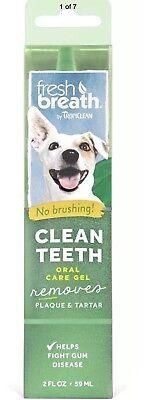 Fresh Breath Clean Teeth Gel for Cats Dogs 2 oz. -