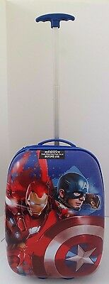 Marvel Comics Civil War Captain America VS Iron Man Trolley Luggage Suit Case  (Ironman Captain America Suit)