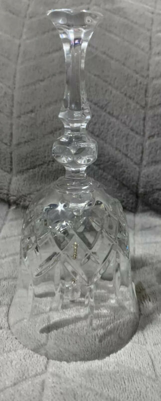 """Crystal Glass Bell  Made in Poland 24% PBO 6 1/2 """" Tall"""