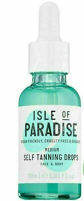 Isle of Paradise Self-Tanning Drops MEDIUM Face & Body 1oz/30mL FULL Sz