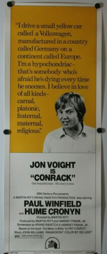 "Conrack 1974 Original Insert Movie Poster 14"" x 36"""