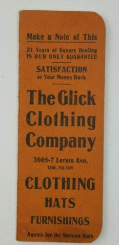 The Glick Clothing Co Business Print Ad Notepad pocket memo
