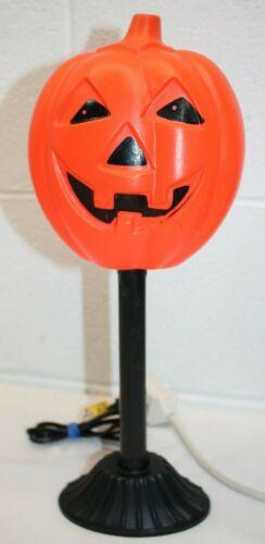 "Vintage Halloween Blow Mold Pumpkin Jack-O-Lantern Drip Candle Stick Light 14"""
