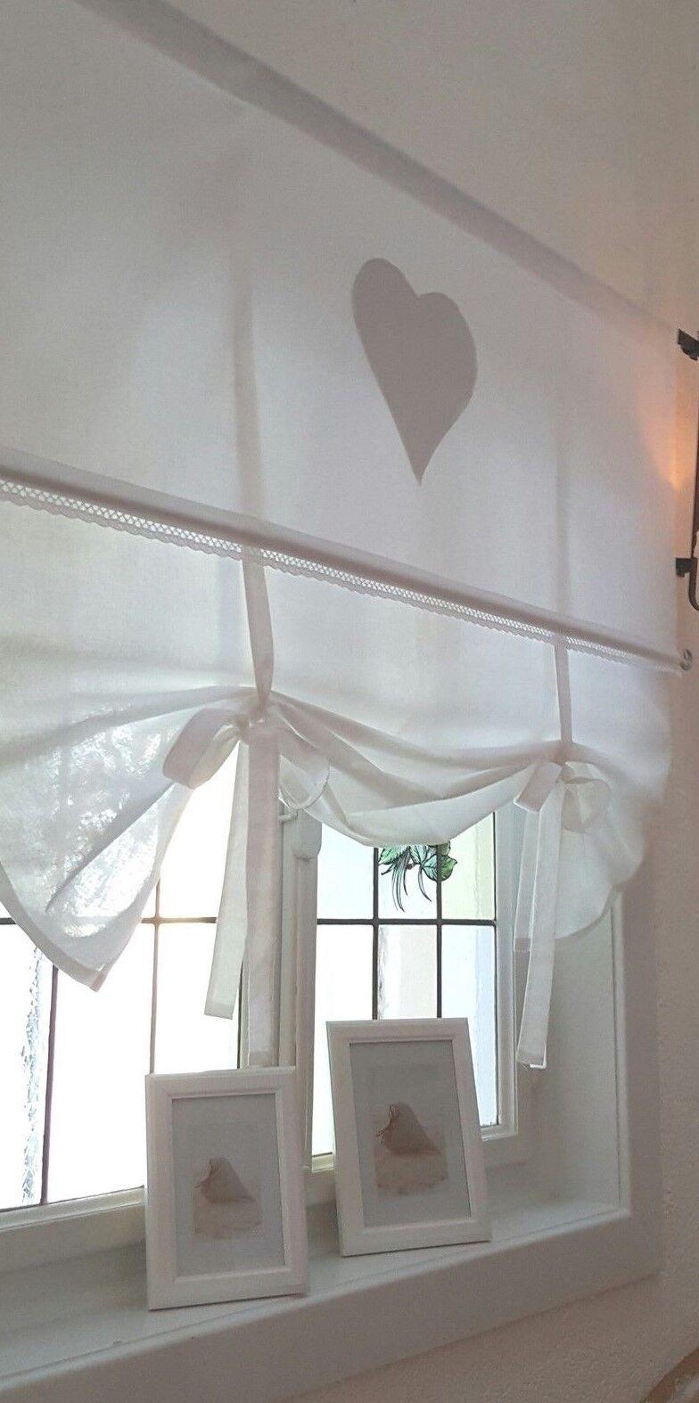 gardine raffrollo wei 80100120140155 x 100 cm lang. Black Bedroom Furniture Sets. Home Design Ideas