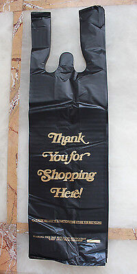 Black Plastic Bag One Bottle Retail Wine Liquor Store Shopping Carry Out 600ct