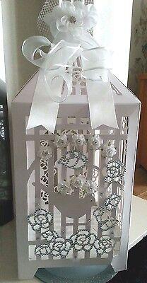 Wedding Card Post Box Bird Cage Rhinestones Birthday Christening Anniversary