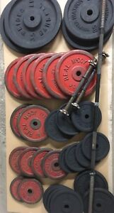 Weights, barbell, dumbbell handles & weight rack / stand