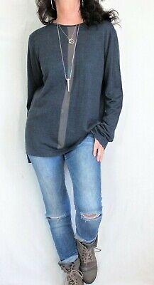Armani Collezioni L Sleeve Scoop Neck Sweater Blue Sz M