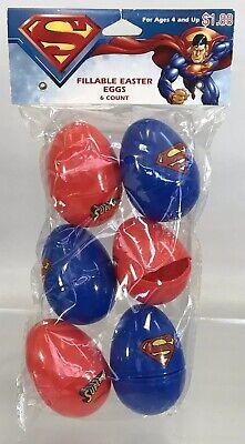 DC Comics Superman 6 Easter Eggs Plastic Fillable 2006 Holiday Bunny Basket New](Easter Egg Baskets)