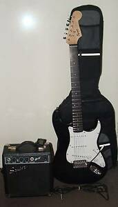 Fender Squier Strat Guitar with Fender Amp, Bag, Lead & Tuner Bayswater Bayswater Area Preview