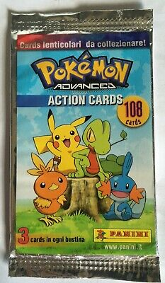 BOOSTER PACK ACTION CARD POKEMON ADVANCED LAMINCARDS NEUF MINT PANINI 2004