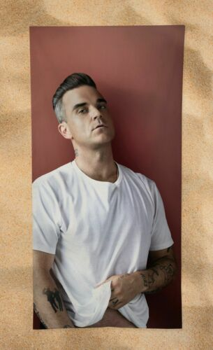 "Robbie Williams Beach Towel 55"" Summer Bath Pool Gym Sexy Hot Hunk"