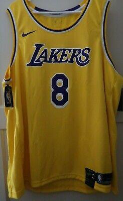 8d7658fb159 Sz 3xl Men's Nike Kobe Bryant Icon Edition Swingman Jersey 60 Lakers AV1229  728
