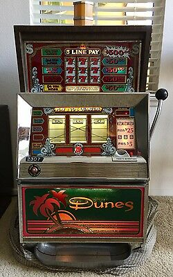 Dunes Hotel & Casino Las Vegas Bally Antique Quarter 25 Cent Slot Machine 1981