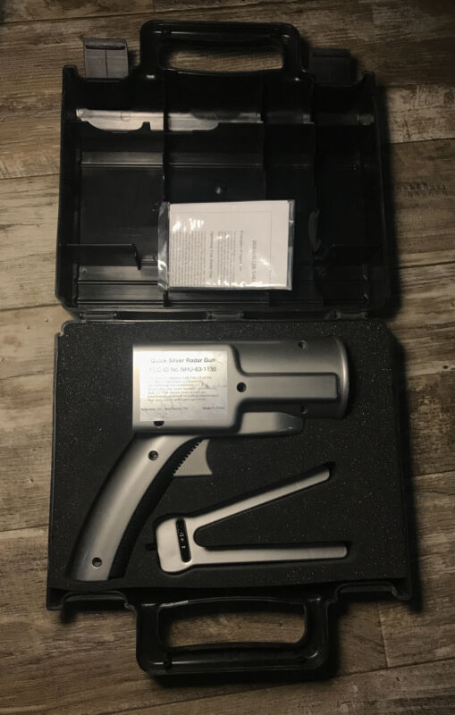 Quick Silver Radar Gun with Case, Instructions And Bipod Stand NHU-63-1130