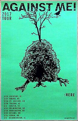 AGAINST ME! US Tour 2017 Ltd Ed New RARE Poster +FREE Punk Rock Alt Poster!