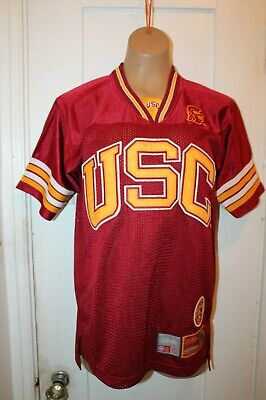 - COLOSSEUM ATHLETICS USC Trojans Football Jersey Youth Large Stitch Maroon NCAA