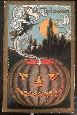 1909 Queenstown MD Usa Picture Postcard PPC Cover All Halloween